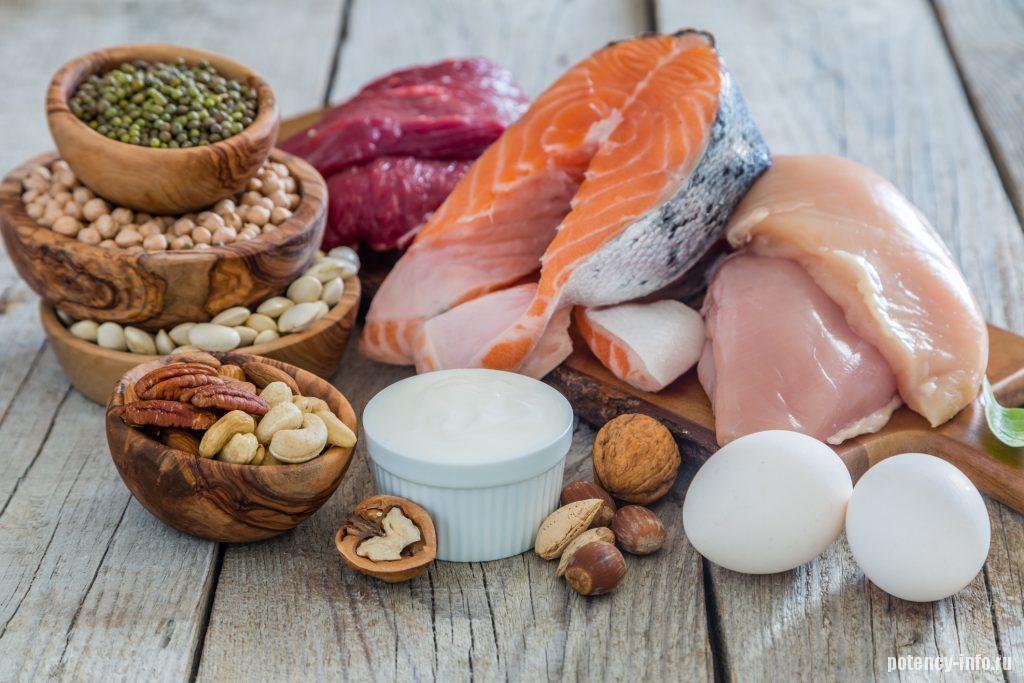 Белковая пища - основа стойкой эрекции